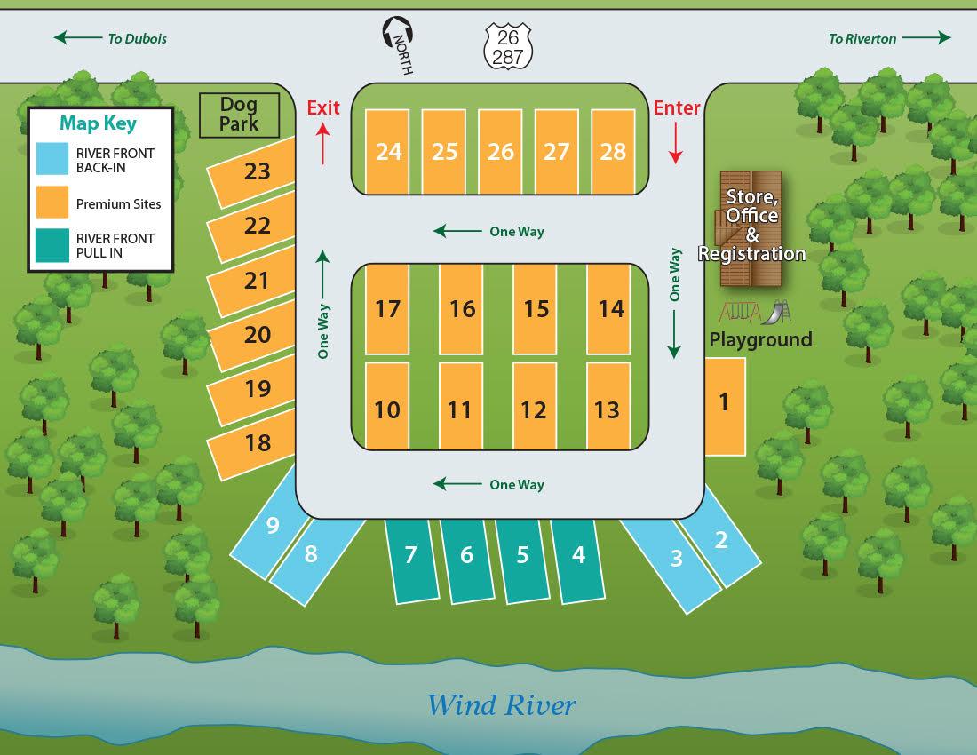 windhaven rv resort campground map